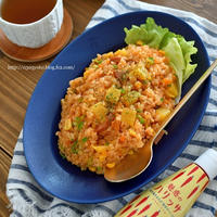【レシピ】パイナップル入りのハリッサピラフ☆フライパンで。