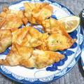 海老と枝豆の揚げワンタン