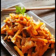 [簡単!] 豚とじゃがいもとキノコのケチャップ生姜焼き と レシピ本制作スタートです。