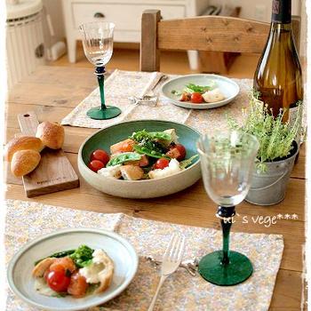 【ノルウェーサーモンでサーモンと春野菜のごちそうサラダ♪ 】