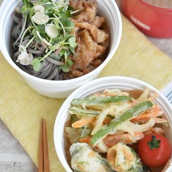 天ぷら肉そばべんとう