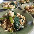 音戸ちりめんと、小松菜、焼き豆腐のさっと煮