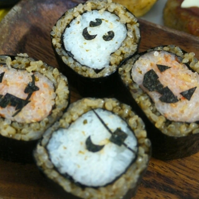 ハロウィンの巻き寿司