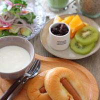 ハニーマスタードマヨ味の袋パン(スーパーで買える)の朝ごはん