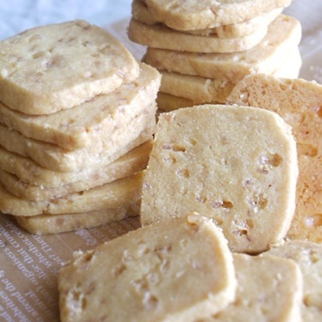 ざらめのアイスボックスクッキー/クリスタルクッキーもどき