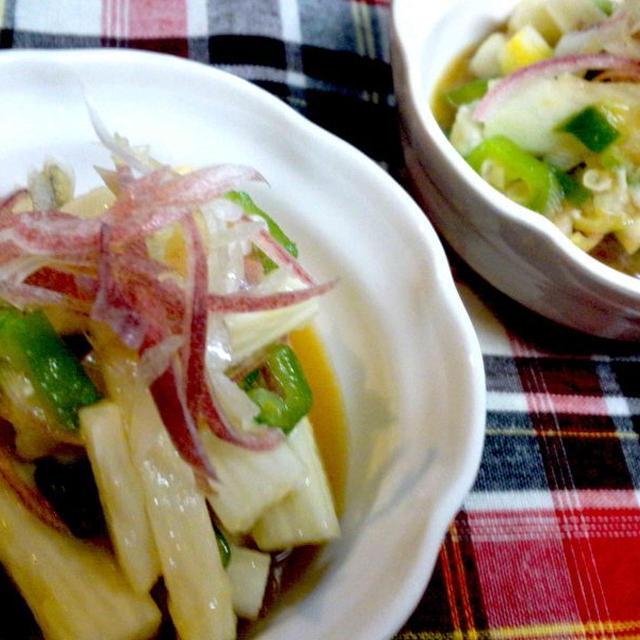 【レシピ】 シャキッシャキ! 長芋とみょうがの辛子ポン酢和え(^^♪