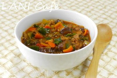 麻婆茄子のスープ