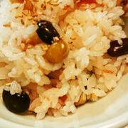 梅干しと豆の混ぜご飯