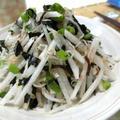 酢とごま油だけで味が決まる♪ 大根と乾物海の幸サラダ