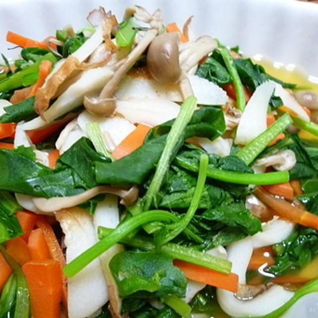 小松菜とシメジとちくわの煮浸し