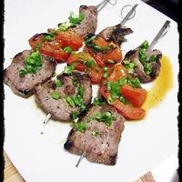 ★牛肉とトマトのハーブ串焼★