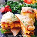 【高野豆腐サンド】卵とハムのピザトーストサンド