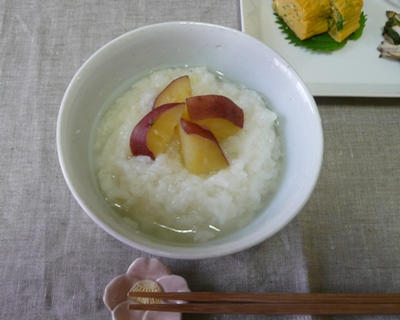 秋の朝に さつま芋粥で目覚めの体に優しい朝ごはん