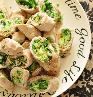 《かんたんおいしい毎日のポークレシピ:肉巻き餃子風》と昨日のやる気なし子献立