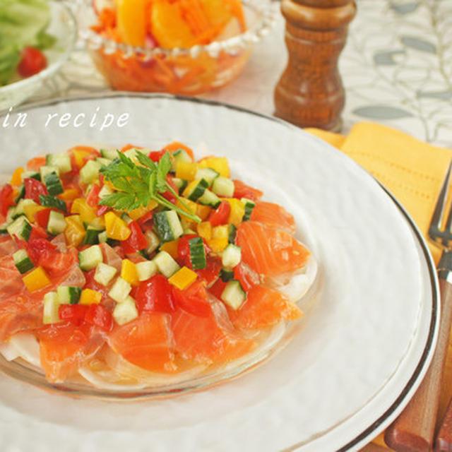 サーモンのカルパッチョ~夏野菜ソース~