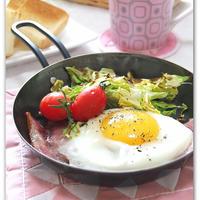 ミニフライパンで簡単朝ごはん