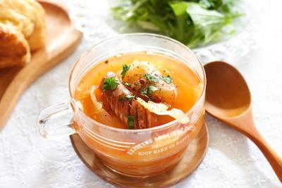 新玉ねぎごろごろスープ
