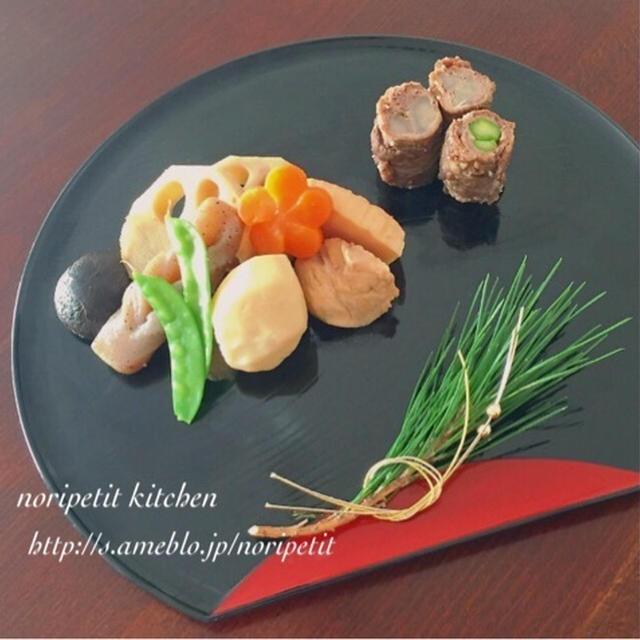 簡単♡<おせち>にも♡ドドーンとお煮しめ♡と牛肉の八幡巻き