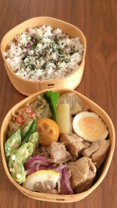 2016/9/26大根と鶏肉の煮物 ウーシャンフェン風味のお弁当
