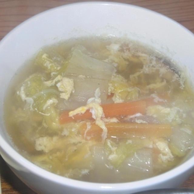 白菜のかき玉スープ