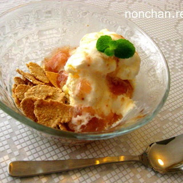 玄米フレークの無花果アイスクリーム*・゜゚・*:.。..。.:*・゜