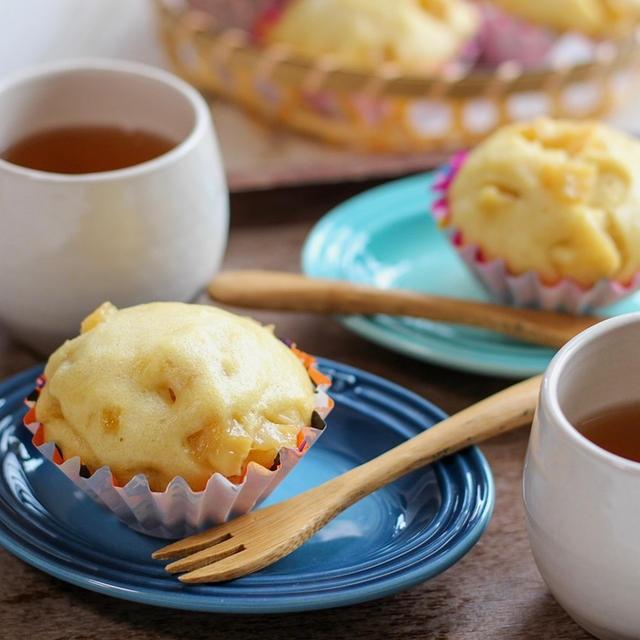 【りんご】HMで簡単♡キャラメルりんごの蒸しパン