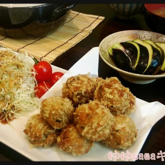 リメイクご飯♪里芋のにっころがしdeぷにぷに高菜コロッケ