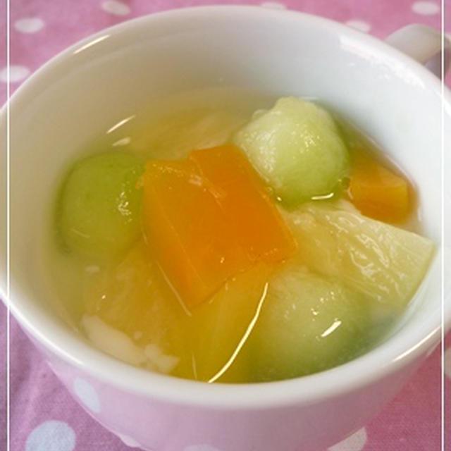 【冷たいお菓子】トロトロ杏仁豆腐
