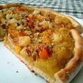 栗きんとんとフルーツ缶でおやつピザのレシピ