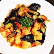 海老となすの花椒風味