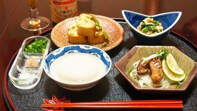 湯葉とおネギのてっぱえ(酢味噌和え)  日本一!「上田とうふ」さんのお豆腐  昨日は京都づくし・・・