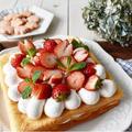 ひな祭りですね^_^ふわふわ【いちごの花びらいっぱいのケーキ】 by つきさん