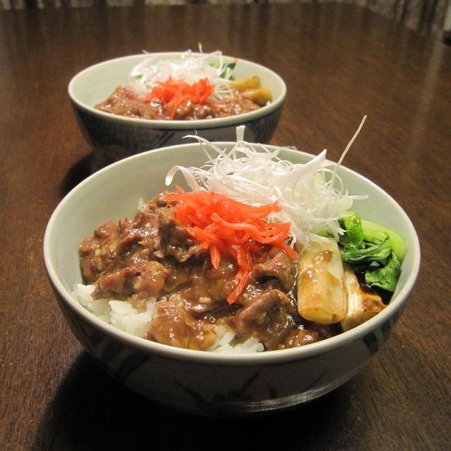 馬肉の中国風丼 八角風味