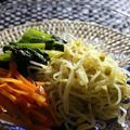 <もやしと小松菜と人参のナムル> 今日のイチオシ朝ごはんに<安納芋の揚げない大学芋風>