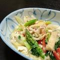 冷蔵庫のお掃除メニュー☆豆腐・油揚げ・湯葉入り、大豆製品だらけの野菜炒め