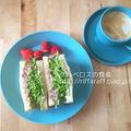 春キャベツとコンビーフポテトのサンドイッチ