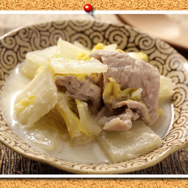 白菜と豚肉の豆乳塩麹煮。