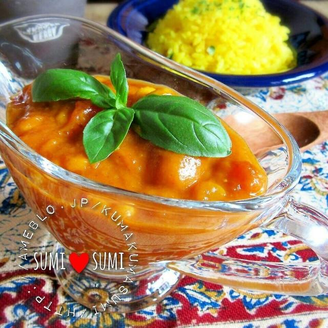 絶品出来た♥レンズ豆とトマトチキン♥オリエンタルカレー