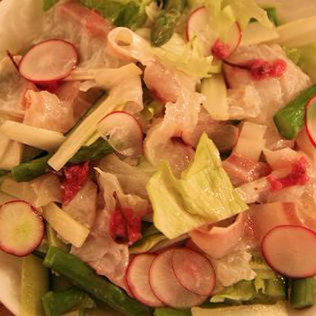 レシピ 鯛の桜花サラダ
