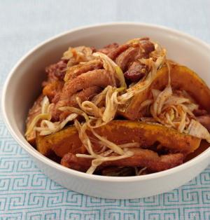 揚げかぼちゃと鶏肉の中華風南蛮漬け