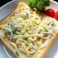 ピリ辛味噌チーズしらすトースト