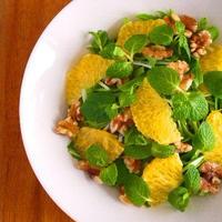 八朔と水菜のさわやかミントサラダ♪