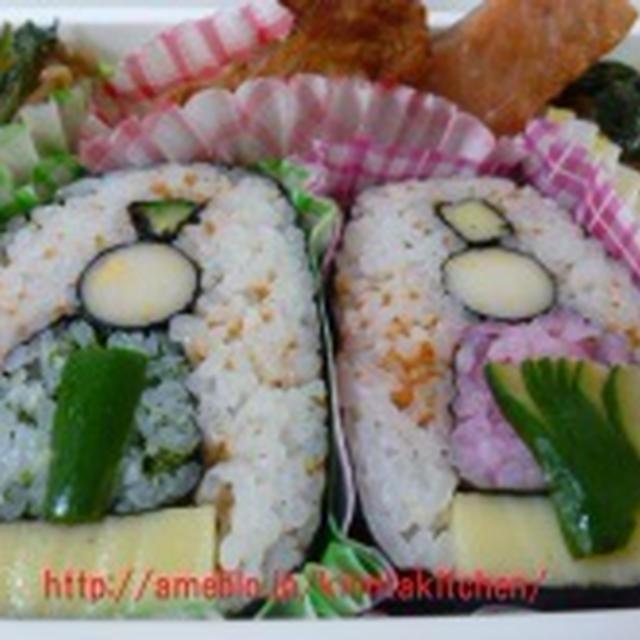 飾り巻き寿司 ひな祭りのお弁当!!