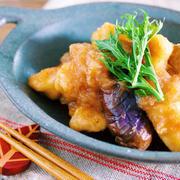 プルップル〜♪味もしみしみ♪『むね肉となすのサッパリ♡おろしポン酢煮』