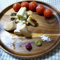 焼き野菜と焼き鳥