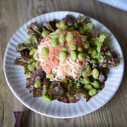 簡単|5分|和えるだけ|初夏にピッタリ|サラダ素麺|【明太子と枝豆の和風サラダ素麺】|麺つゆ以外も楽しめるアレンジ素麺集