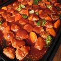 豚ひき肉で作る★柔らか煮込みハンバーグ