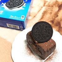 【手作りお菓子】材料4つ!☆テリーヌ風オレオ生チョコレートケーキ