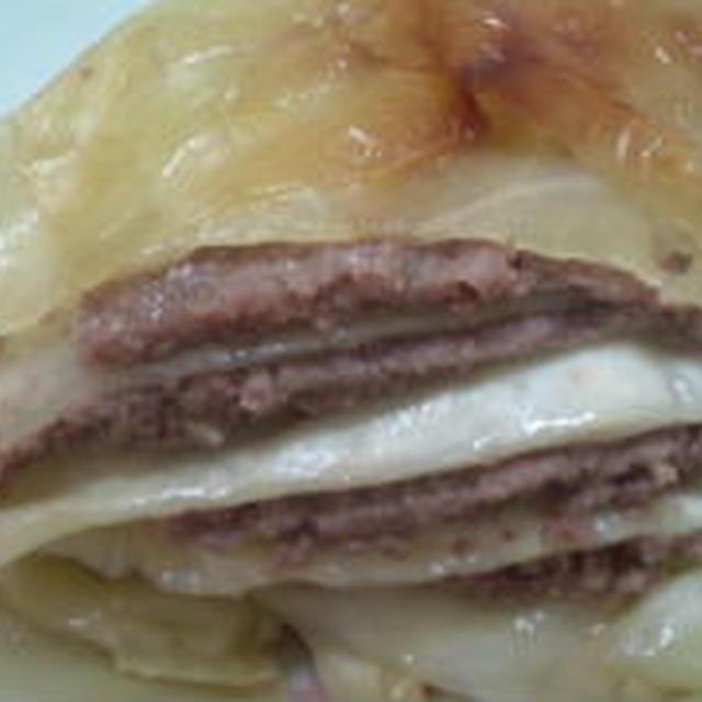 キャベツとひき肉の重ね焼