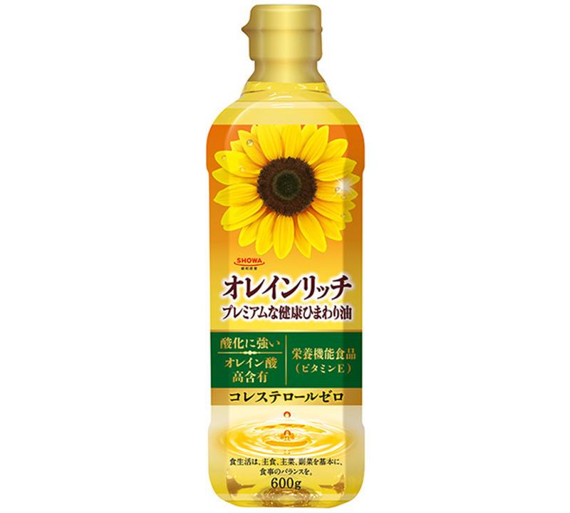 「オレインリッチ」のひまわり油は、ひまわりの種子から抽出されるオイル。<br>特にオレイン酸(オメガ...